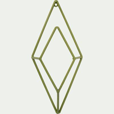 Patère losange en métal - vert H24cm-PACHA