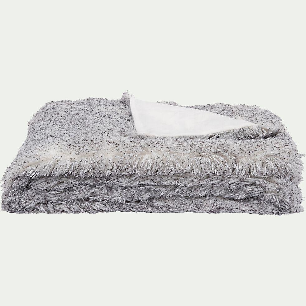 Plaid polaire - gris 130x170cm-GALINETO