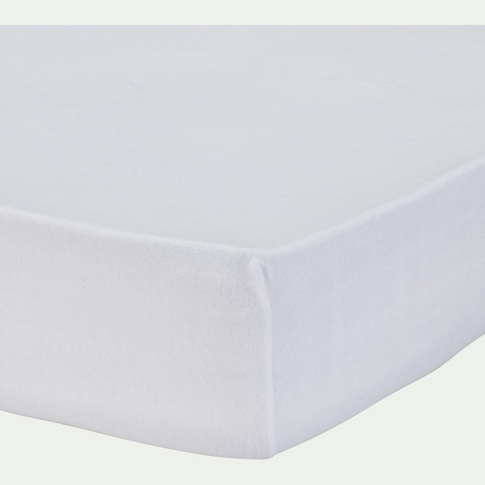Protège-matelas en coton recyclé 90x200 cm bonnet 25cm-CINA