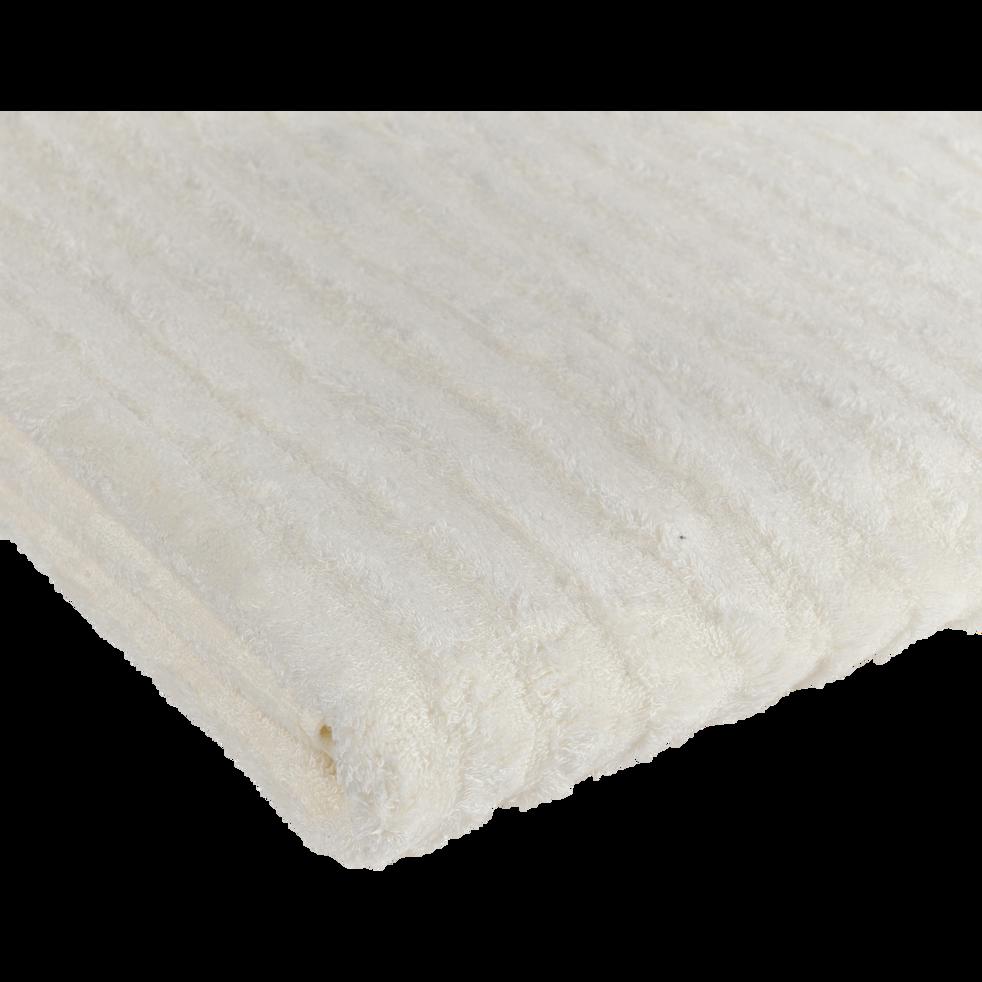 Serviette invité en viscose et coton 30x50cm blanc ventoux-AUBIN