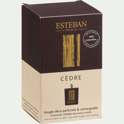 Bougie parfumée rechargeable cèdre 170g-CEDRE