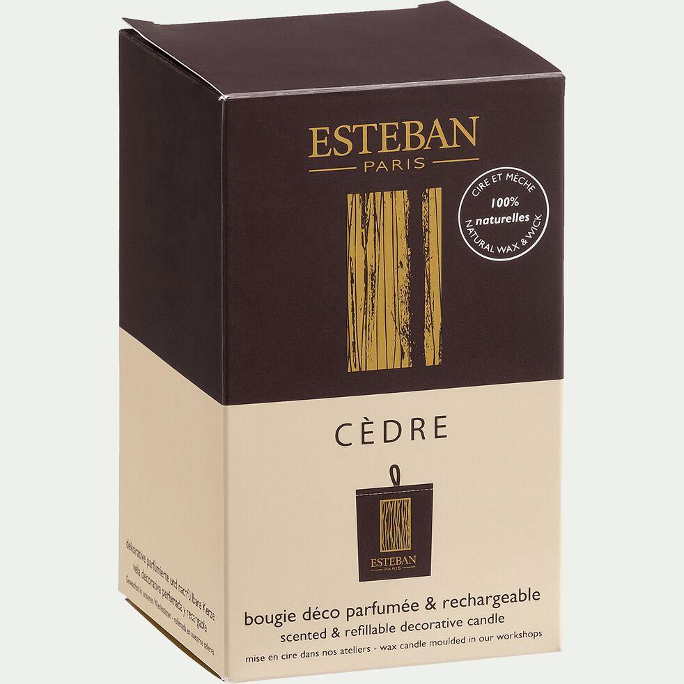 Bougie parfumée rechargeable senteur Cèdre 170g-CEDRE