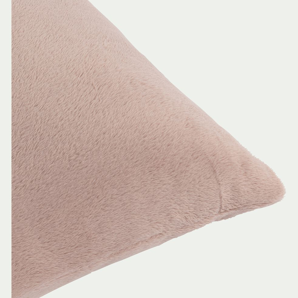 Housse de coussin effet polaire en polyester - rose rosa 40x60cm-ROBIN