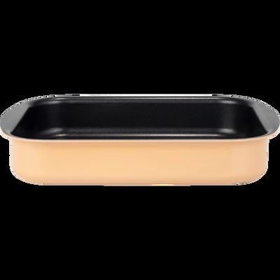 Plat à four rectangulaire en aluminium 25x35cm rose argile-PINTO