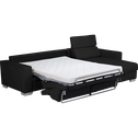 Canapé d'angle en cuir réversible convertible noir-Mauro