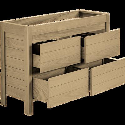 Meuble sous vasque 4 tiroirs 120cm-NATIVE