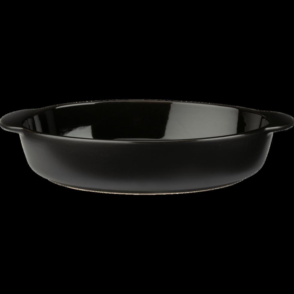 Plat à four ovale en grès noir L33cm-MIOU