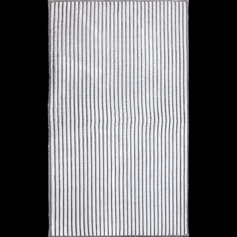 Tapis rayé imitation fourrure 160x230cm-MAYAS