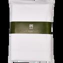 Drap plat en coton blanc 180x300cm-CALANQUES