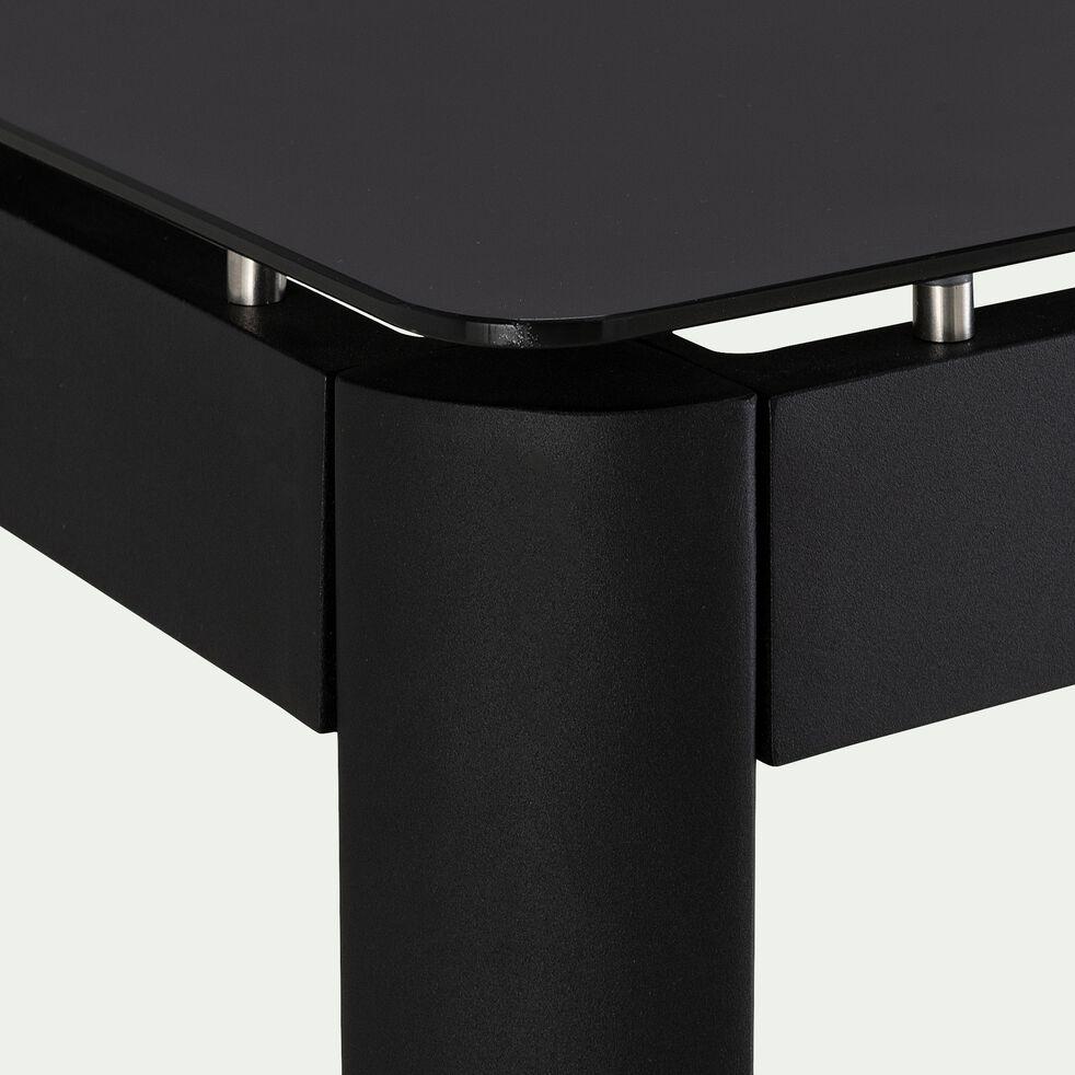 Table fixe carrée en aluminium - noir L92xl92xH76cm-Estila