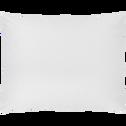 Lot de 2 taies oreiller 50x70cm en percale de coton-FLORE