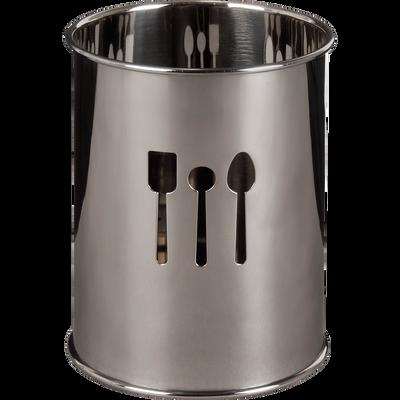 Pot à ustensiles en inox H12.8cm-Shadow