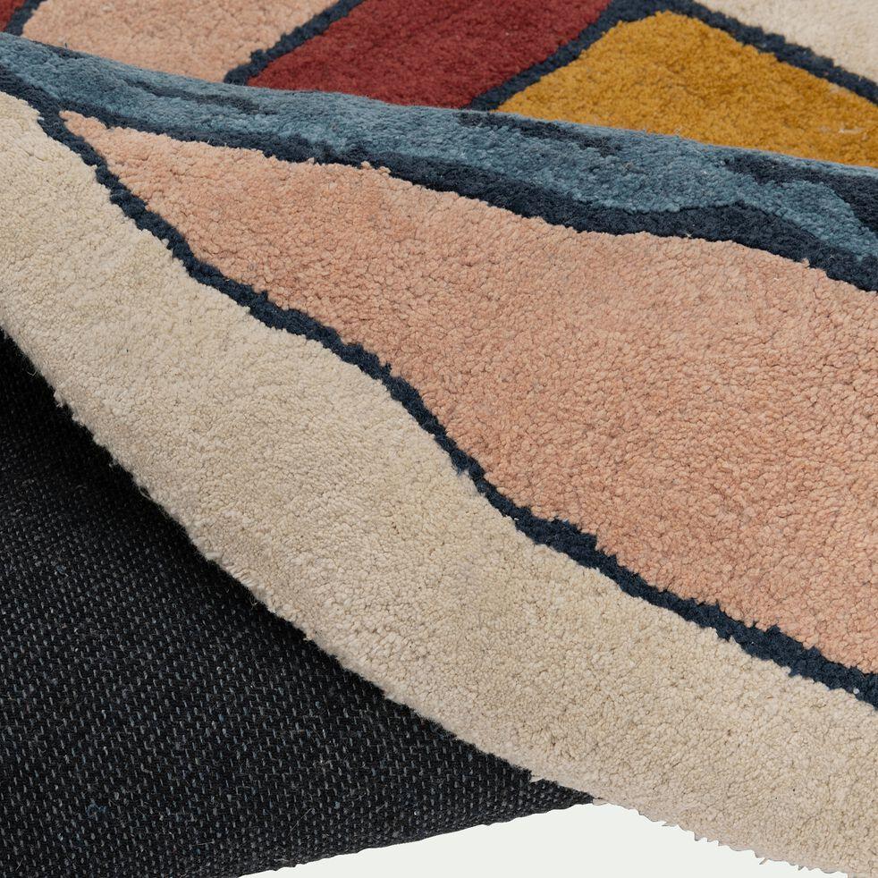 Tapis enfant forme escargot 90x115cm -multicolore-Luen