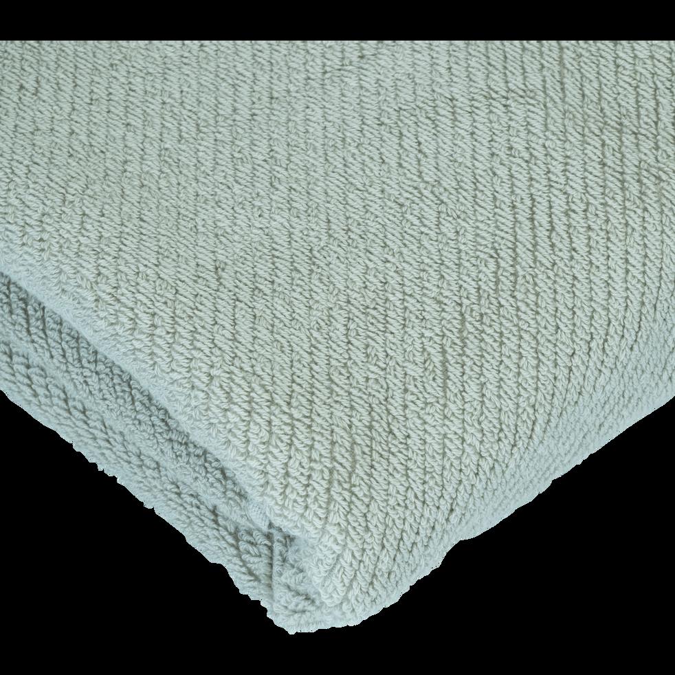 Drap de douche vert olivier 70x130cm-COLINE