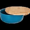 Saladier en fibre de bambou bleu D20,5cm-TREZ