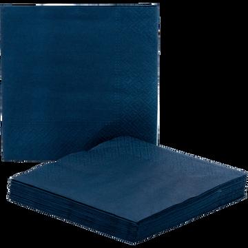 Lot de 20 serviettes en papier bleu figuerolle 33x33cm-SAZE