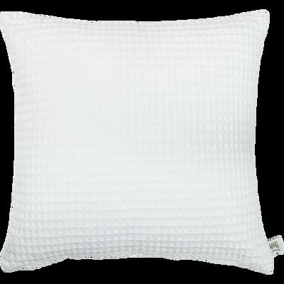 Coussin en coton gaufré blanc capelan 45x45cm-GOYA