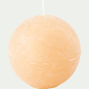 Bougie ronde beige estérel D10cm-BEJAIA