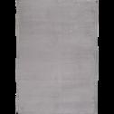 Tapis imitation fourrure gris restanque-ROBIN