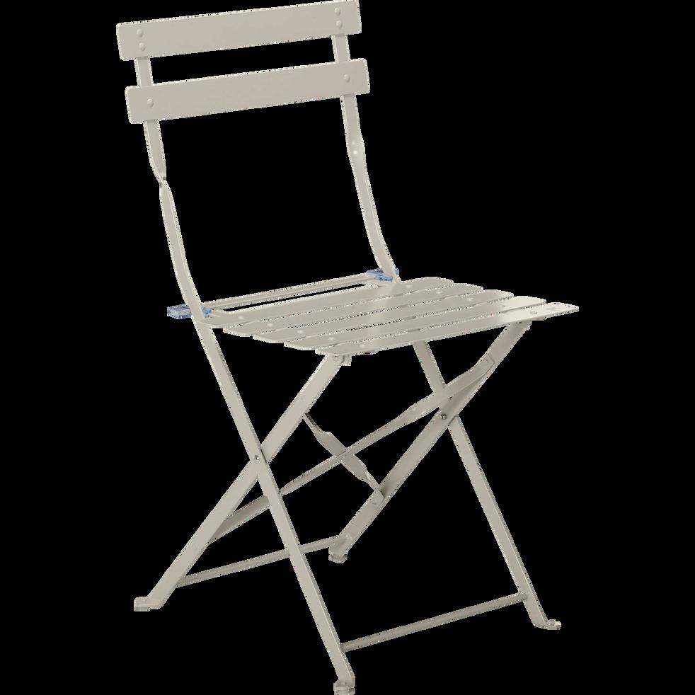 chaise de jardin pliante taupe cervione les indispensables d 39 alinea alinea. Black Bedroom Furniture Sets. Home Design Ideas