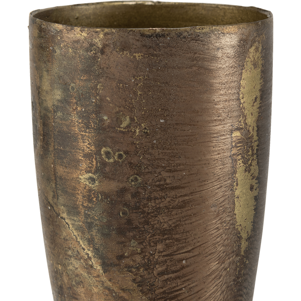 Bougeoir en métal doré H40cm-Peninsula