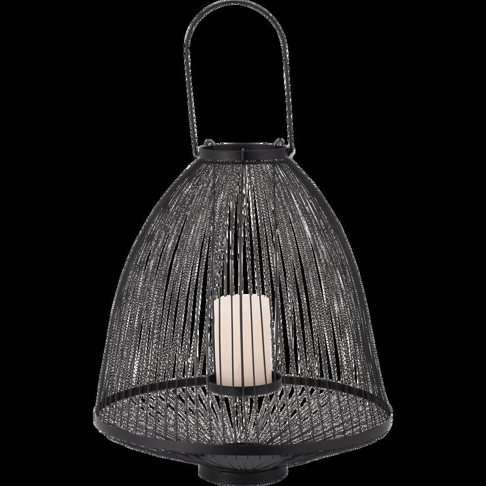 Lanterne en métal noir  D37xH58cm-ALTHEA
