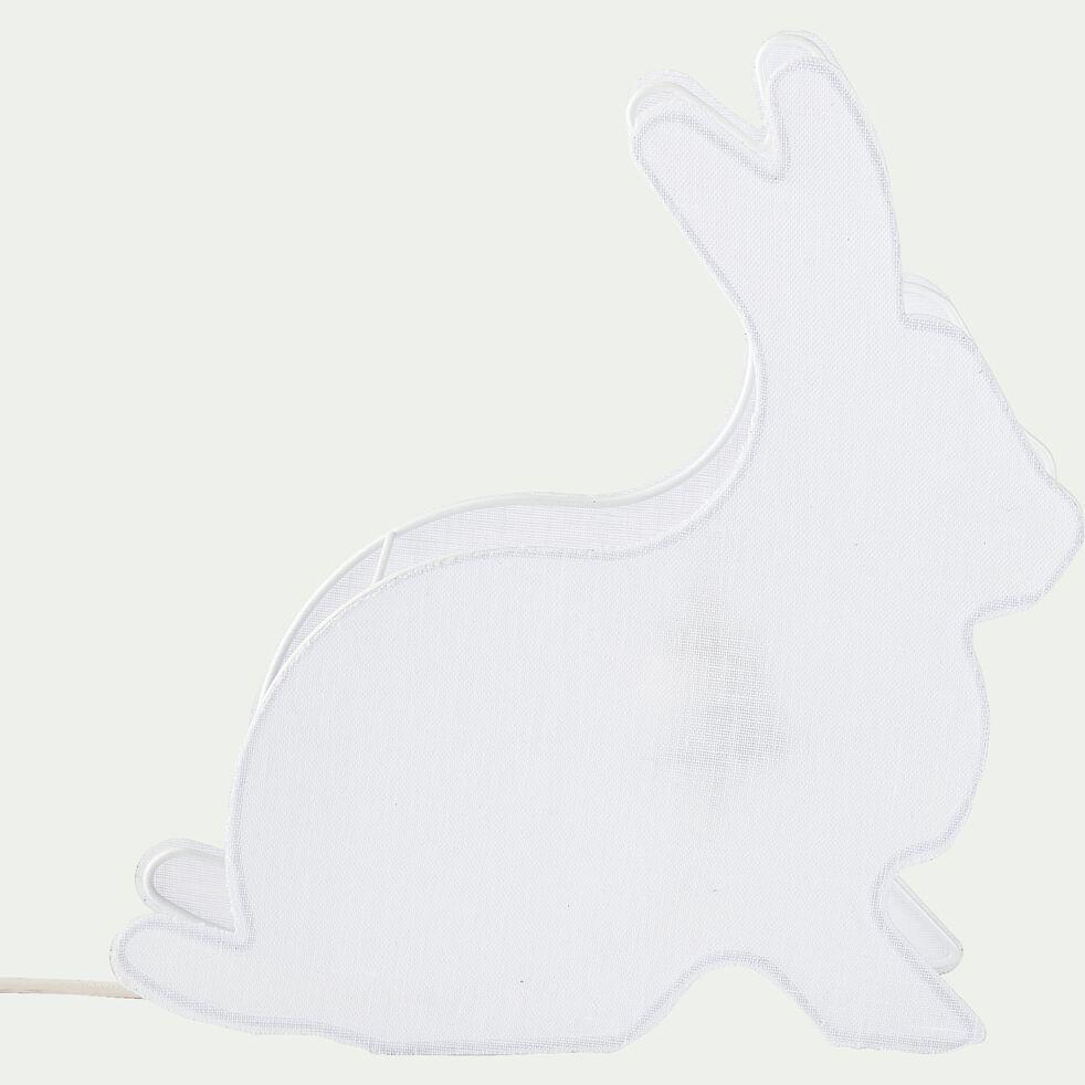 Lampe à poser forme lapin l34cm - blanc-Pierro