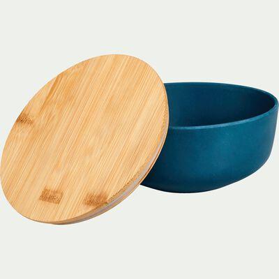 Saladier en fibre de bambou bleu D15,2cm-TREZ