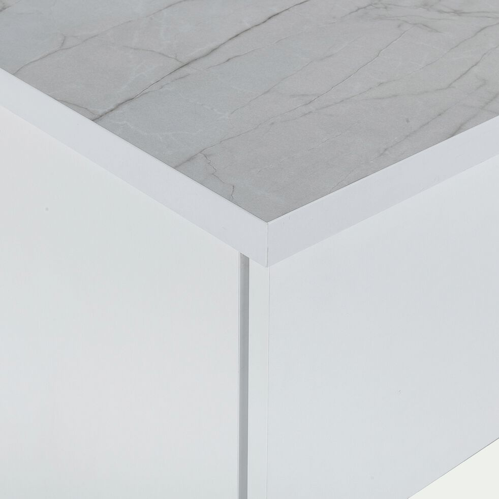 Ilot central de cuisine - blanc-GINKO