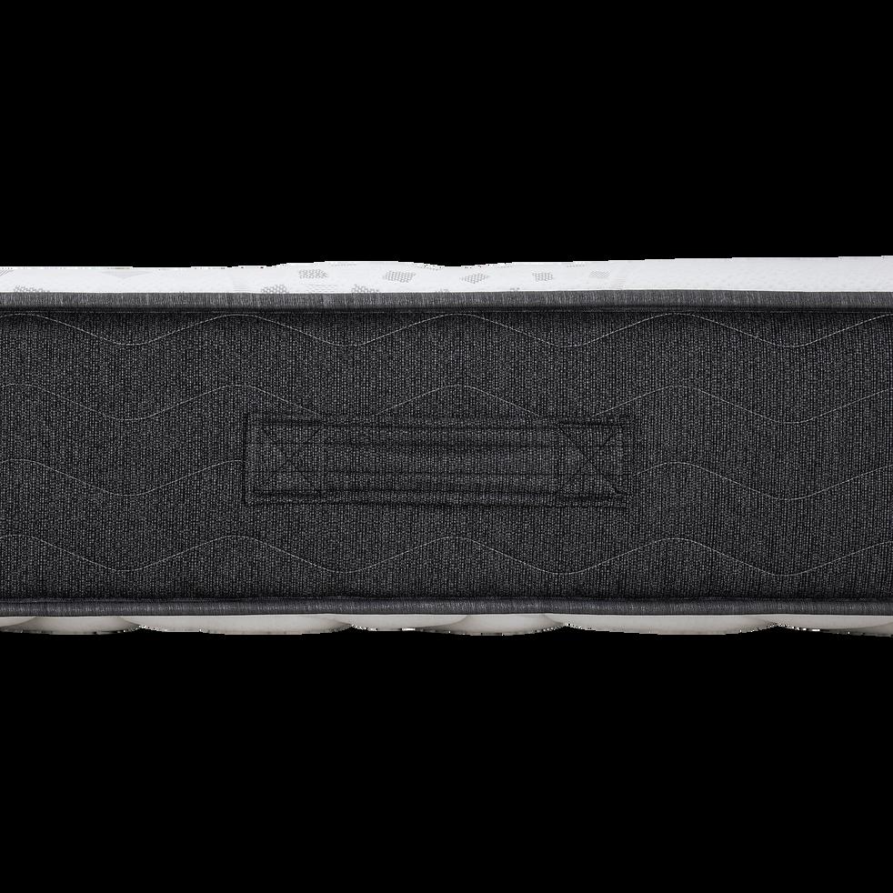 Matelas en mousse gris anthracite 140x190cm H24cm-MIRABEAU
