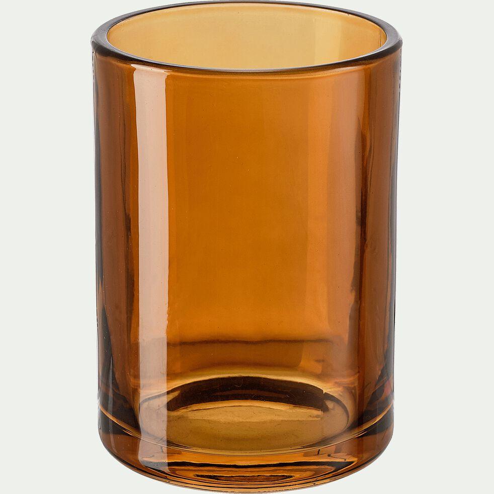 Gobelet en verre - marron H10cm-OSCO