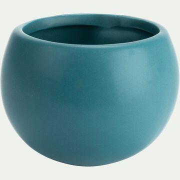 Cache-pot en céramique - bleu niolon - H10xD6cm-mai