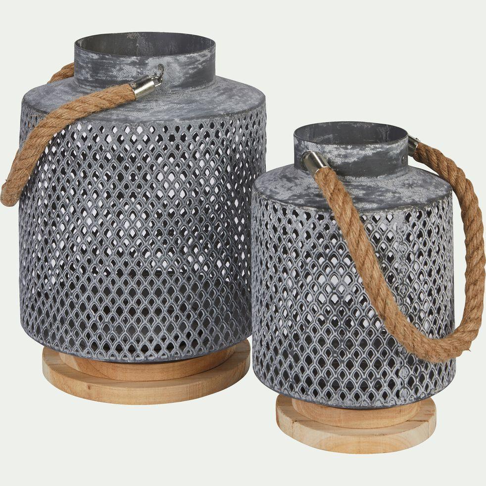 Lanterne en métal perforé H30cm-AMIC