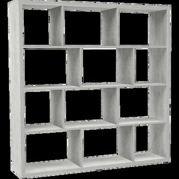 Étagère 12 cases effet béton L149.4cm-BRIK