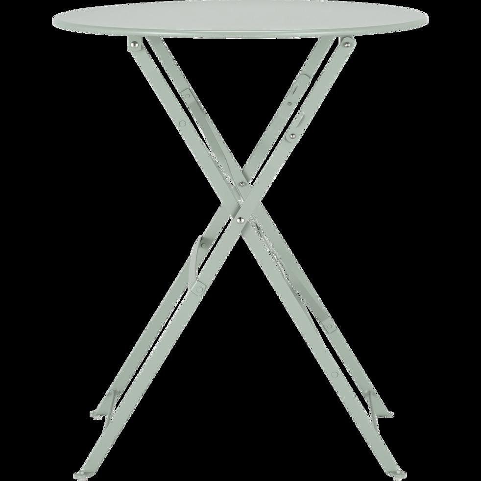 CERVIONE - Table de jardin pliante vert olivier D60cm (2 places)