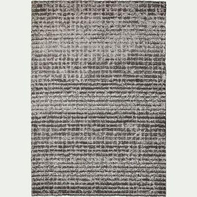 Tapis bicolore gris et blanc 160x230cm-Max