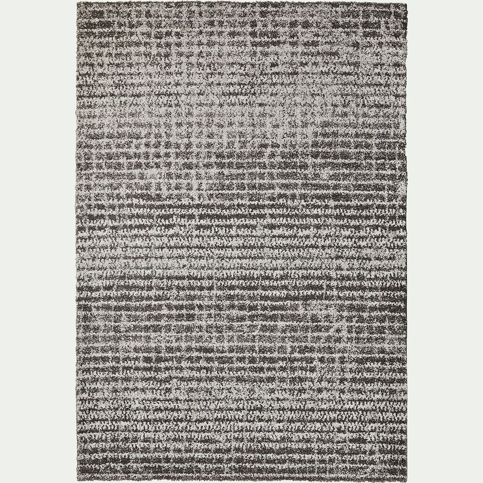 Tapis quadrillé - gris et blanc 160x230cm-Max