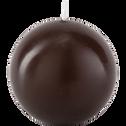 Bougie boule brun ombre-HALBA
