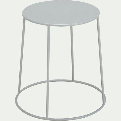 Table d'appoint de jardin - gris vesuve  (D35cmxH44,5cm)-Ikaria