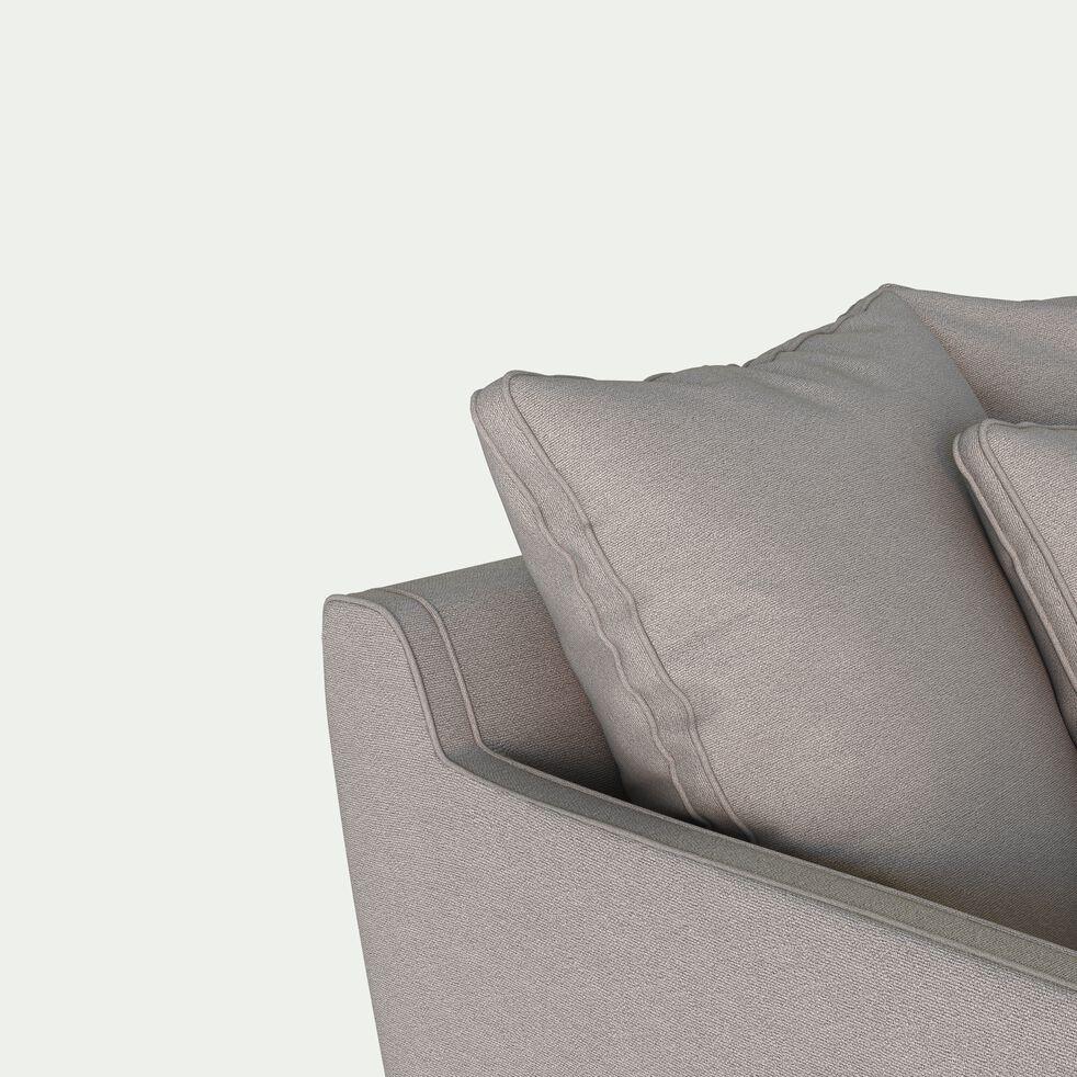 Canapé 2 places fixe en tissu - gris borie-LENITA