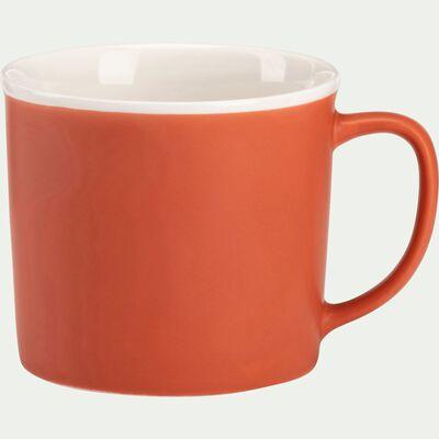 Mug en porcelaine rouge 35cl-CAFI