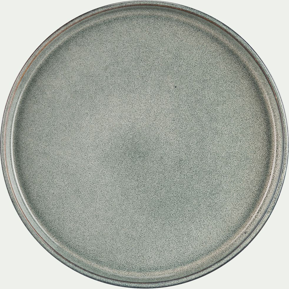 Assiette à dessert en grès émail réactif D21cm - gris clair-PIETRA