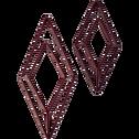 Patère en métal rouge 1 emplacement L14xl5xH30cm-PACHA