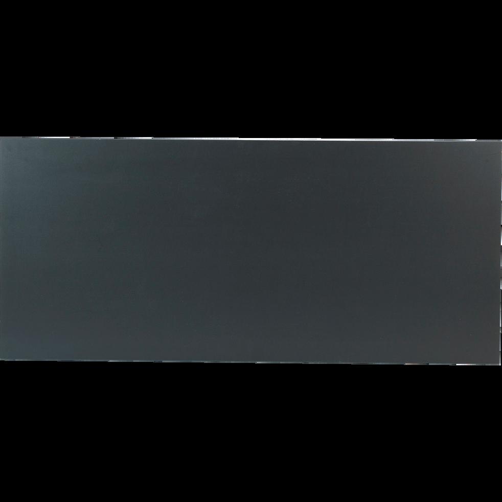 Plateau de bureau avec niche de rangement gris anthracite 67x150 cm-BOX