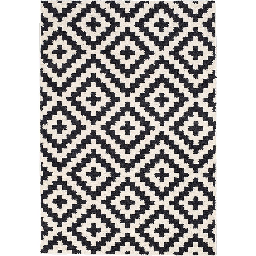 tapis motifs noir et blanc 160x230cm geometrix 160x230 cm grands tapis de salon alinea. Black Bedroom Furniture Sets. Home Design Ideas