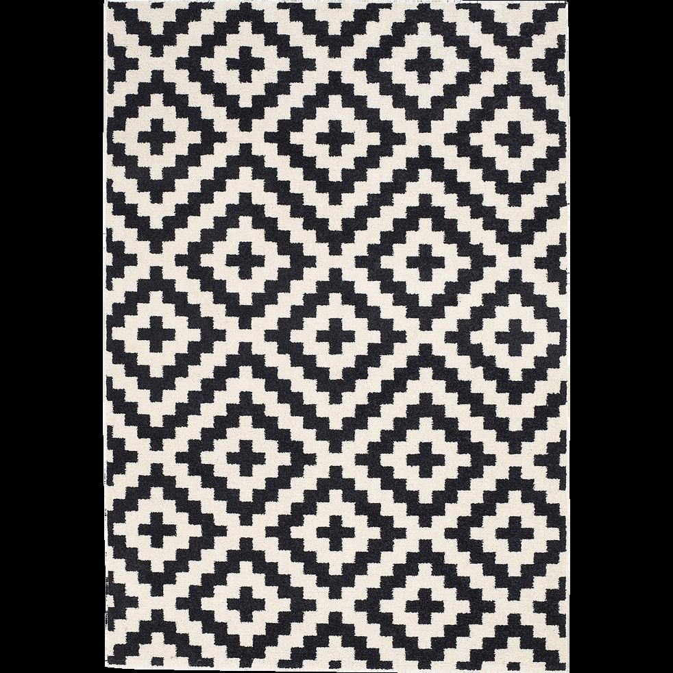 geometrix - Tapis Noir Et Blanc