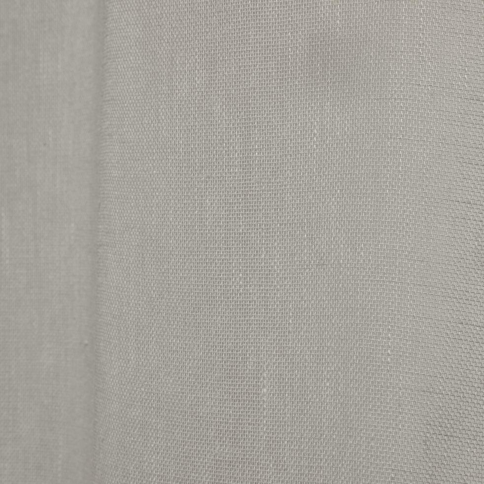Voilage à œillets en polyester - vert olivier 135x250cm-DUNE