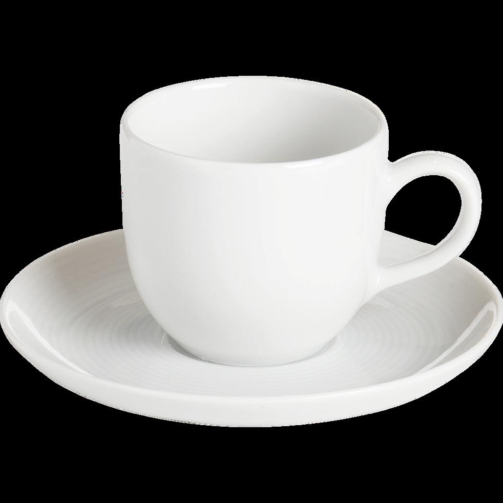tasse avec sous tasse en porcelaine qualit h teli re 12cl eto tasses alinea. Black Bedroom Furniture Sets. Home Design Ideas
