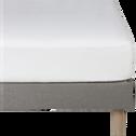 Drap housse en lin Blanc capelan 160x200cm bonnet 28cm-VENCE