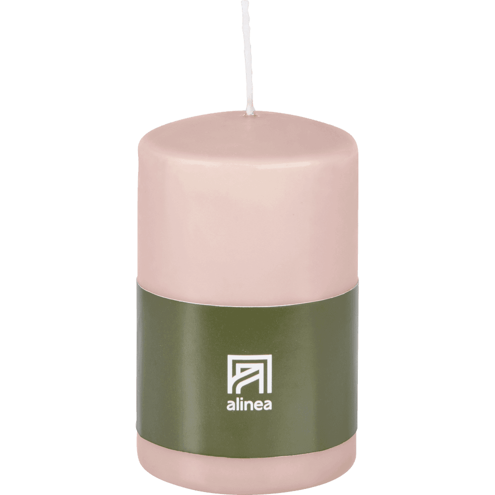 Bougie cylindrique rose sable-HALBA